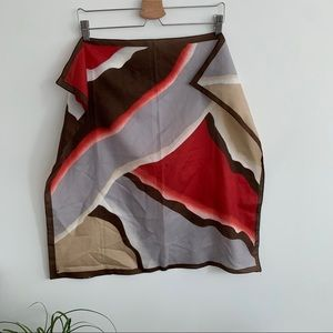 Vintage - Square Scarf - Blue, Red and Cream